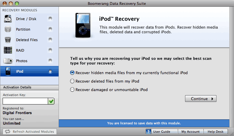 Data Recovery Software for MacOS X Users Guide