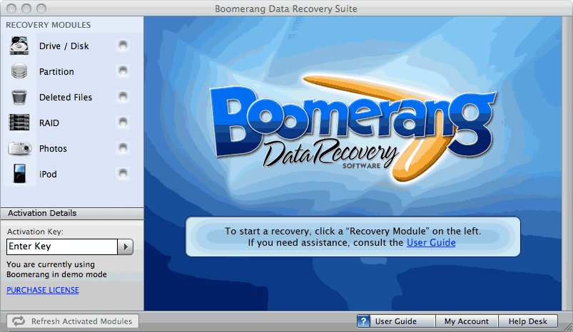 Boomerang Data Recovery Suite